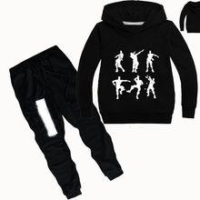 DLF-Conjunto de ropa con estampado gráfico para niñas, sudaderas con capucha para niños, Tops, suéter, ropa y pantalones, conjunto de 2 uds.