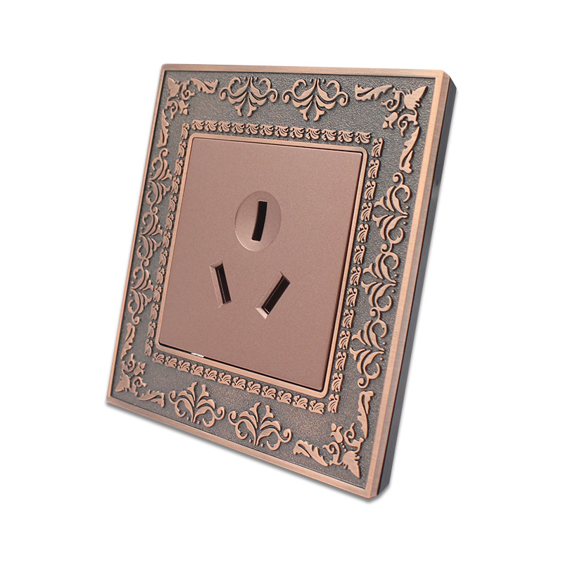 AU New Zealand Standard Emboss style 3 Pins hole wall socket 16A Zinc alloy frame Wall power electrical outlet AC110 250V in Electrical Sockets from Home Improvement