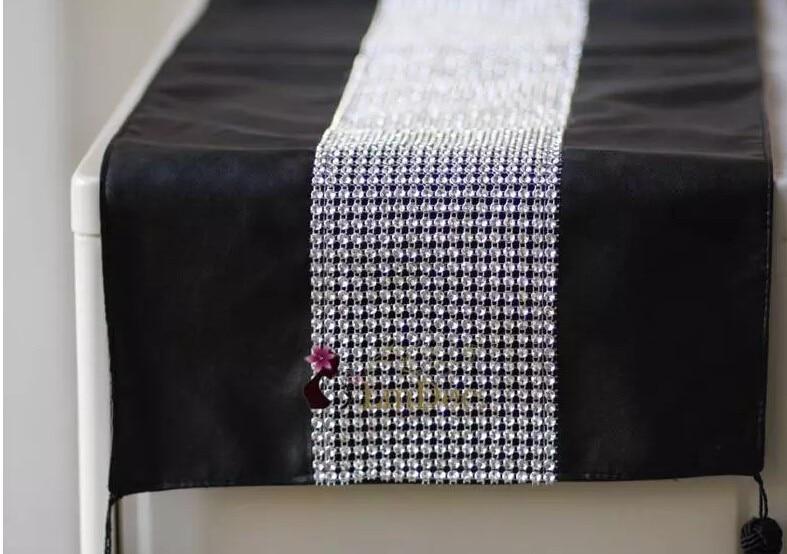 96 Новая Европа черный искусственная кожа PU Алмаз орнамент столбец постельные принадлежности бегун коврик