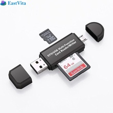 USB OTG To USB 2.0 Adapter SD/ SD Card Reader With USB Connector For Android Smartphone