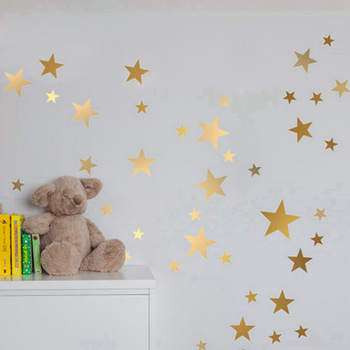 Gold stars wall decal vinyl stickers For Kids Rooms-Free Shipping For Kids Rooms