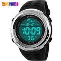 Hombres de la Marca SKMEI S CHOQUE Moda Casual Deportes Relojes Hombres LED Reloj Hombre Cronógrafo Digital de Alarma de Reloj de LA correa de LA PU relojes de pulsera