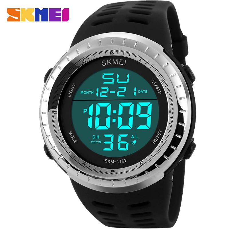 Prix pour Hommes SKMEI Marque S de CHOC De Mode Casual Sport Montres Hommes LED Numérique Montre Homme Chronographe Alarme Horloge PU bracelet montres