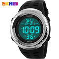 Men's SKMEI Brand S SHOCK Fashion Casual Sports Watches Men LED Digital Watch Man Chronograph Alarm Clock PU strap Wristwatches