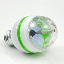85-265V 110V 220V E27 3W Stage RGB LED Light Auto Rotating Holiday Lamp Laser Disco Party Holiday Dance bulb Christmas Lighting