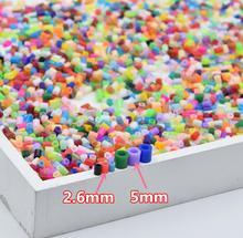 72 색상 선택할 수 있습니다 2.6mm 하마 비즈 perler 퓨즈 비즈 색상 철 비즈 어린이 DIY 수제 장난감 선물 약 1000 개/몫