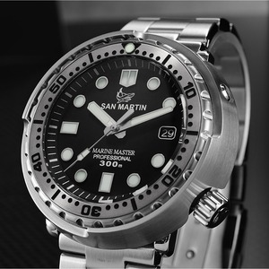 Image 3 - San Martin NEW Tuna SBBN015 Fashion Automatic Watch NH35 Movement Stainlss Steel Diving Watch 300mWater Resistant Ceramics bezel