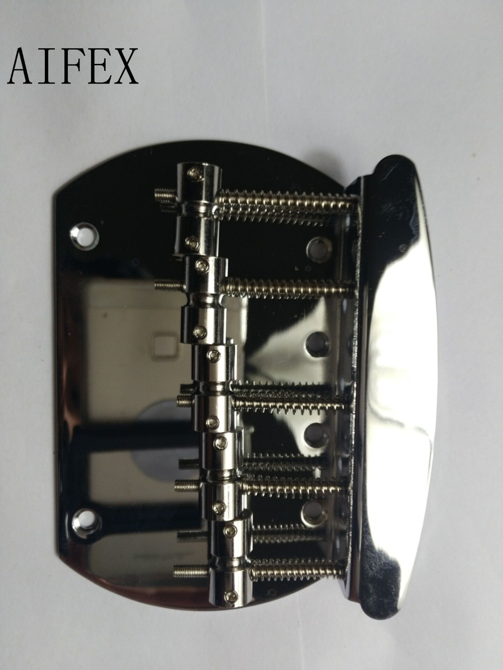 chrome 5 string bass guitar bridge with screws for music man style in guitar parts. Black Bedroom Furniture Sets. Home Design Ideas
