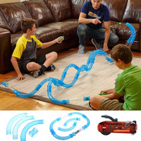 52PCS Speed Pipes DIY Remote Control Pipe Racing Track RC Car Toy Kids Pipes Cars Toys Flash Light Christmas Gifts Dropshipping