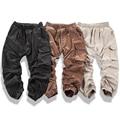 Justin bieber moda deus one sided zipper calças hiphop kanye west dos homens harem pants calças khaki preto do tornozelo-comprimento calças