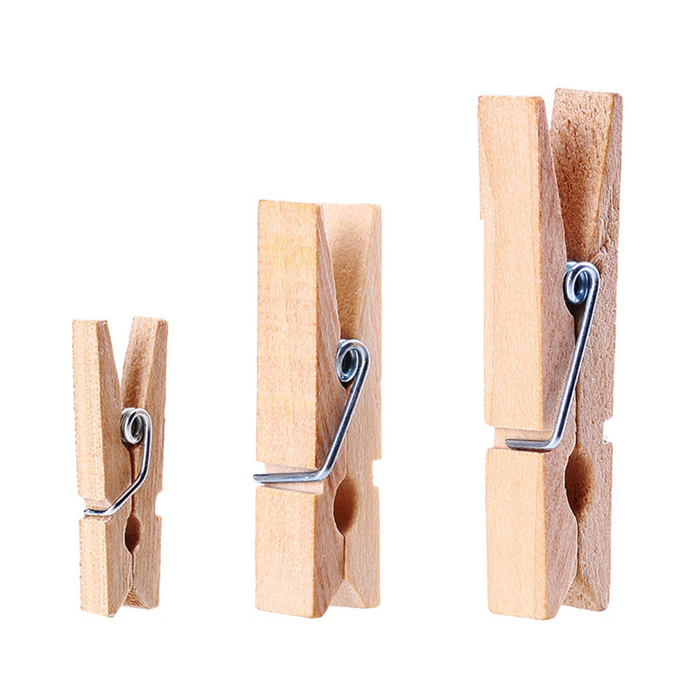 Very Small Mine Size 25mm Mini Natural Wooden Clips For Photo Clips Clothespin Craft Decoration Clips Pegs