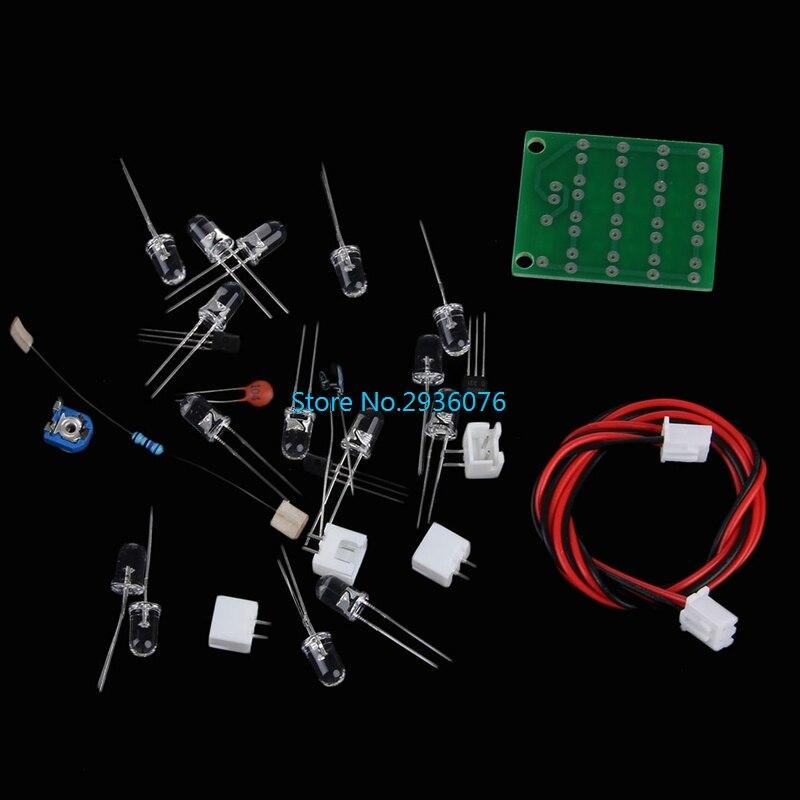 CD4017 + NE555 Explosion Flash Light LED Flashing Electronic Suite DIY Kit