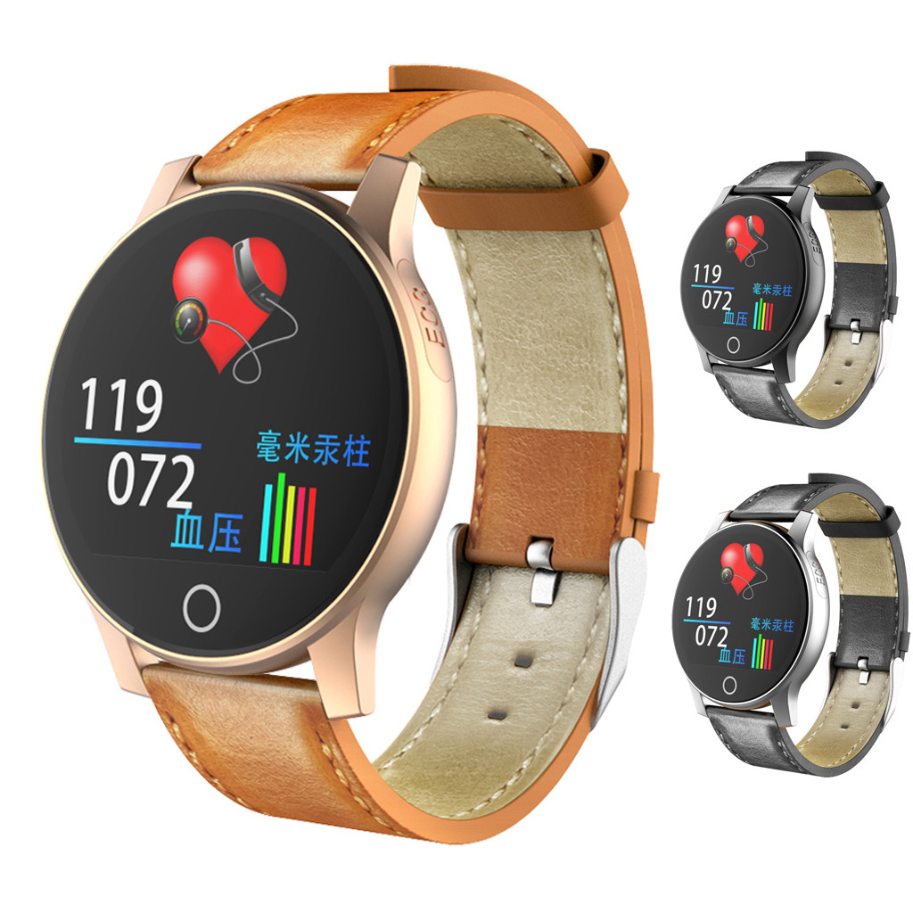 NEW ECG PPG smart watch with electrocardiograph ecg display holter ecg heart rate monitor blood pressure smartwatch