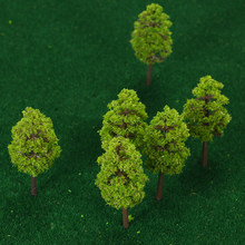 20Pcs 70mm Scale Architectural Model Trees Railroad Layout Garden Landscape Scenery Miniatures Tree Building Kits Toy for Kids(China)