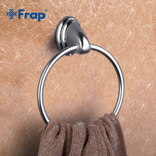 Frap 1 Set Modern Style Ring Wall Mount Towel Ring Bathroom Accessories Bath Towel Holder Bath Hardware F1504
