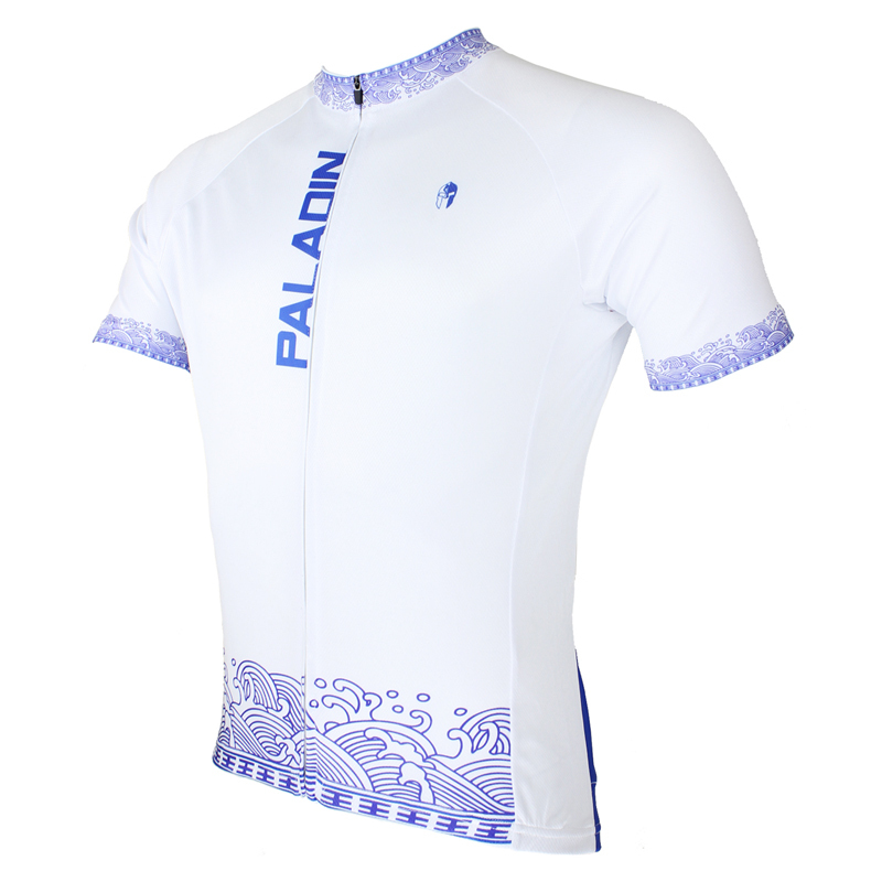 2016 New Men's Cycling Jerseys top Sleeve Blue and White Waves Bicycle Shirt White bike top Breathable Cycling Top ILPALADIN 2016 new men s cycling jerseys top sleeve blue and white waves bicycle shirt white bike top breathable cycling top ilpaladin