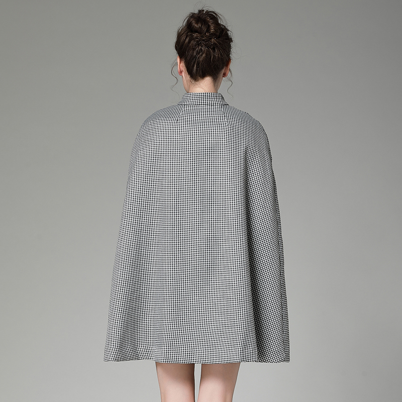 Manteau Femmes Color Outwear Arrivée Unique Poule Luxe Picture Poitrine Qualité Vintage S 2017 xl Pardessus Nouvelle De Haute Hiver Cape qFwn1ZX4