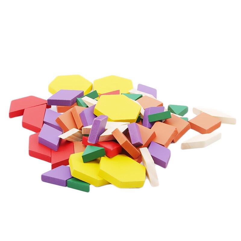 Juego De Regalo Ss 250 Bloques De Construcción De Madera Juguetes Educativos Tempranos Clásicos Tangrams Formas Geométricas Coloridas Rompecabezas para Niños