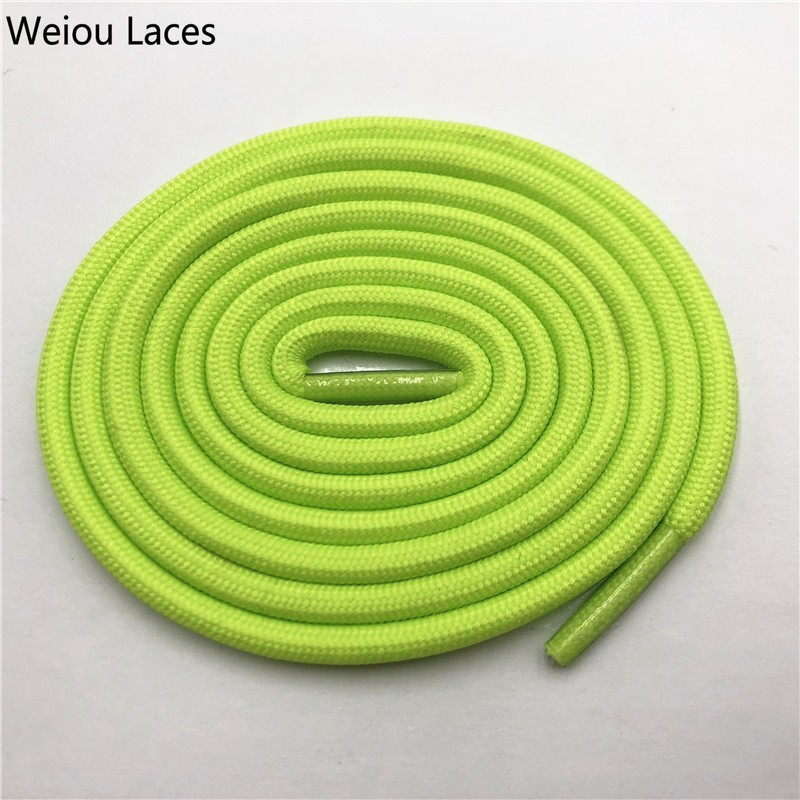 Weiou 0,5 см круглые спортивные шнурки из полиэстера толстые походные шнурки одежда веревка для скалолазания шнурки для ботинок Детские мужские - Цвет: 2706Light green