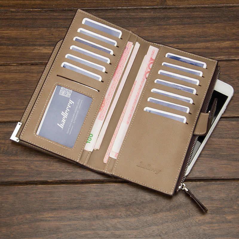 Лидер продаж, качественные мужские кошельки из мягкой кожи, бизнес, досуг, 3 складки застежка-молния, держатель для кредитных карт, кошелек для мужчин