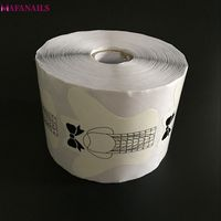 1 Roll 500pcs New Professional Nail Forms Bow Tie White Color Acrylic Curve Nail Gel Nail Extension Nail Art Guide Form TMB02 18