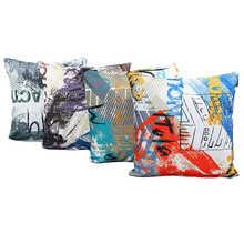 Fundas de almohadas de patrones impresas novedosas, fundas de almohada para cama casera decorativa Súper tela, funda de almohada