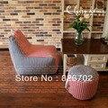 Nova Chegada 100% Algodão Beanbag Cadeira + Apoio Para Os Pés/Set preguiçoso beanbag Covers Removível E Lavável