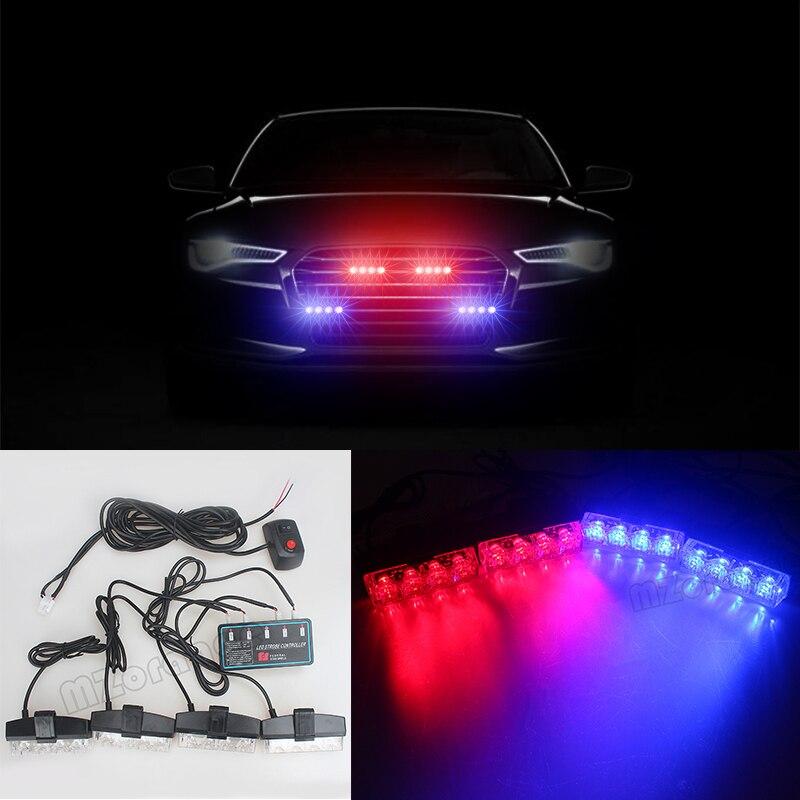 Hot sell LED Remote 12V Automobiles Car Strobe light Warning bar Flashing Flasher DRL Ambulance Emergency Police lights