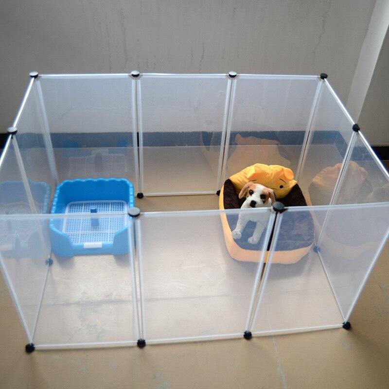 Pet lit maison en plastique Transparent chien clôture bricolage multi fonctionnel chenil maison pour chiens chats pratique maison gardien de chien MPC54-in Maisons, niches et enclos from Maison & Animalerie    2