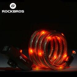 Rockbros bicycle cable lock bike rear light waterproof lock with usb rechargeable mtb bike anti theft.jpg 250x250
