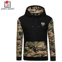2017 New Fashion Hoodies Brand Men Camouflage Splicing Sweatshirt Male Hoody Hip Hop Autumn Winter Hoodie