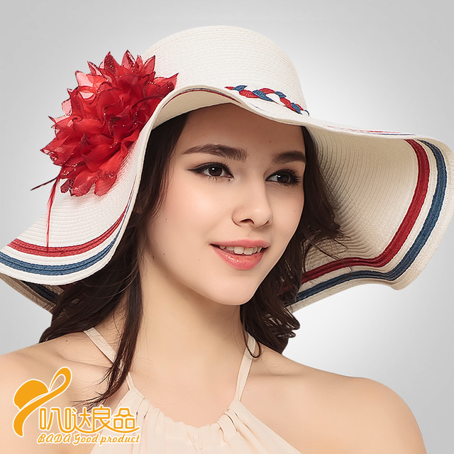 2016 Новый Красочный Пляж Шляпы Сомбреро Женщин Летнее Солнце Крышка Большая Bongrace Шляпа Сложить Путешествия Hat Радуга Цвет B-3202