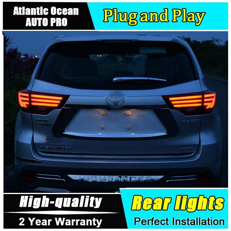 Новый автомобиль укладка для Toyota Highlander задние фонари 2014 2018 для Highlander светодиодный хвост Lexus лампа Тип светодиодный задние лампы фонарь