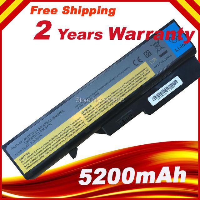 5200 mAh 6 células bateria do portátil para Lenovo IdeaPad G460 G470 V470 B470 G560 G570 B570 V300 V370 Z370 Z470 Z460 Z560 Z570