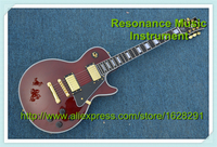 Custom Shop Brown Finish LP Electrica Guitarra Gold Hardware Left Handed Guitar Kits Available