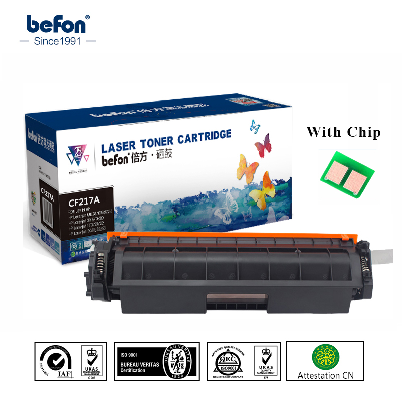 befon with Chip CF217A CF217 217 17A 217A Toner Cartridge for LaserJet Pro M102a M102W 102 MFP M130a M130fn 130 130fn M102 M130 цена