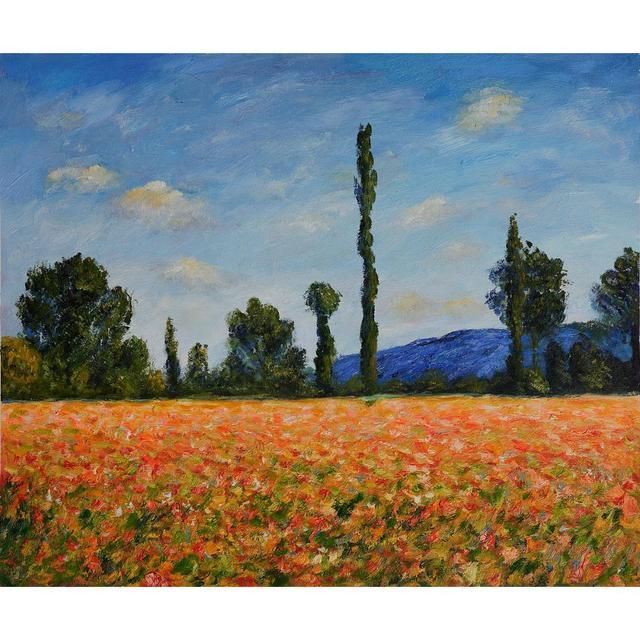 Paysage peinture à l\'huile Champ de Coquelicots II moderne Claude ...