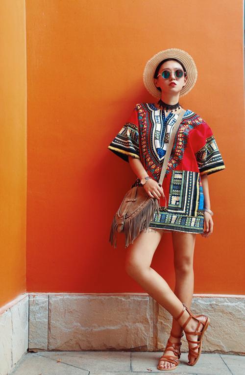 Cotton Africa Clothing Dashiki Performance Woman Man Children Blouse Ethnic Print Top