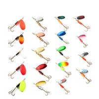 1pc Spinner Köder 1 #/2 #/3 #/4 #/5 # Metall Angeln locken Harten Köder Löffel Lockt Mit Höhen Haken Arttificial Bass Köder 20 farben