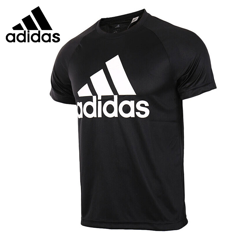 Original New Arrival  Adidas D2M TEE LOGO Men's T-shirts short sleeve Sportswear