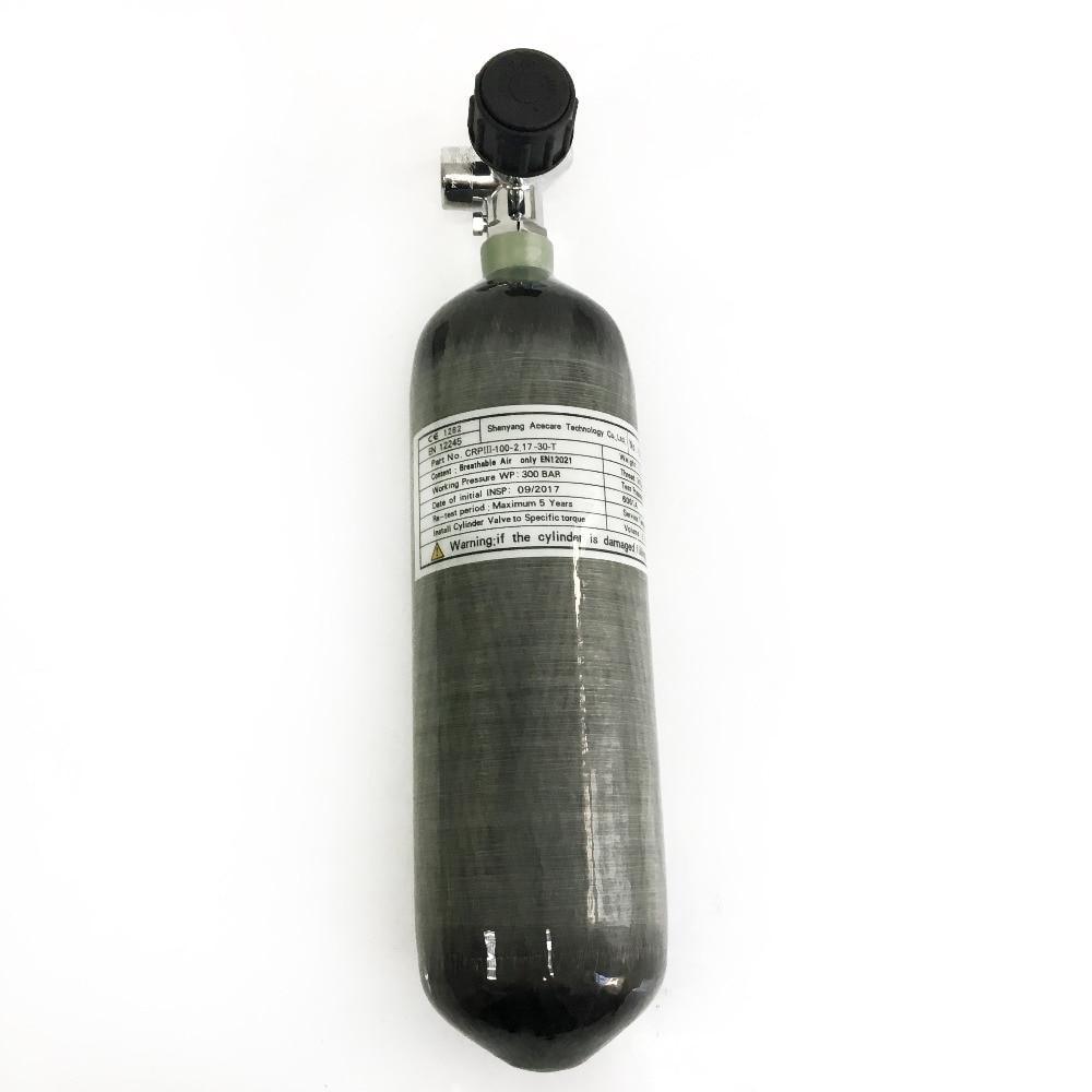 Image 4 - AC1217 сжатый воздух углеродного волокна цилиндр сцепление страйкбол 2.17L 300bar с черным клапаном для пневматическое оружие ручной пистолет аксессуары-in Пейнтбольные аксессуары from Спорт и развлечения