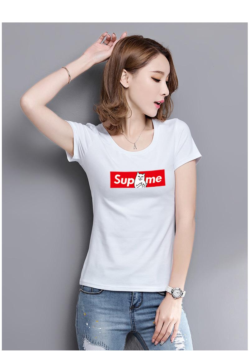 HTB1hLBQSVXXXXbnXFXXq6xXFXXXE - Women T shirt Cartoon Middle Finger Cats Short Sleeve PTC 215