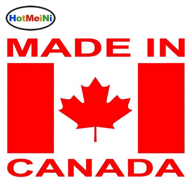 Hotmeini made in canada art lettering maple leaf flag car sticker van window bumper car decor