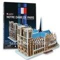 CubicFun 3D puzzles modelo de construção do presente Criativo C717H modelo de simulação de papel Notre Dame de Paris