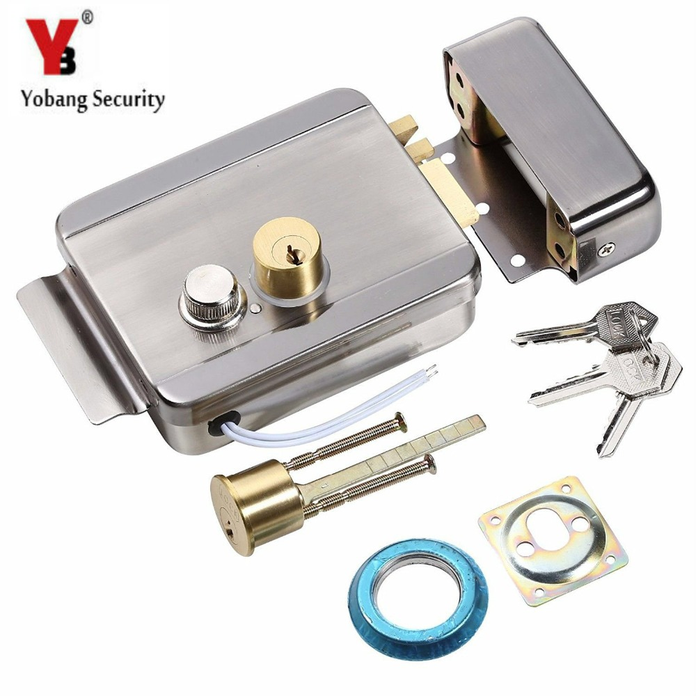 YobangSecurity Electric Magnetic Bolt Mortise Door Lock Electronic Stainless Steel Fail-Safe Door Access Control Security System 12v 5 wire electric bolt lock electric drop bolt lock with bolt status detection output fail safe fail scure