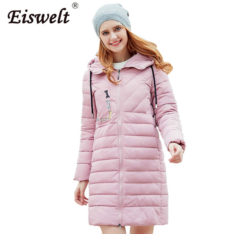 EISWELT Warm Winter Jackets 2017 Women Fashion Down Cotton Parkas Casual Hooded Long Coat Thickening Parka Zipper Cotton Slim warm winter jackets women fashion cotton parkas casual hooded long coat thickening parka zipper cotton slim outwear plus size