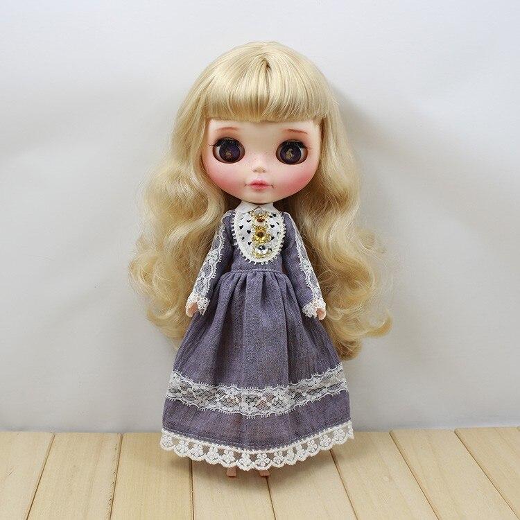 Neo Blythe Doll Retro Mosaic Jewelry Dress 6