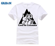Pablo Escobar T Shirt COCA DE COLOMBIA KOKAIN EL CHAPO WEED Gangster,mafia, T-Shirt Summer Fashion camisas Top Men men
