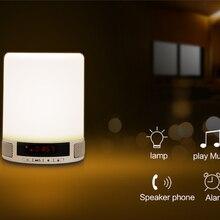 Романтическая bluetooth-колонка с подсветкой с умным будильником светодиодная лампа фонаря с сенсорной индукционной лампой