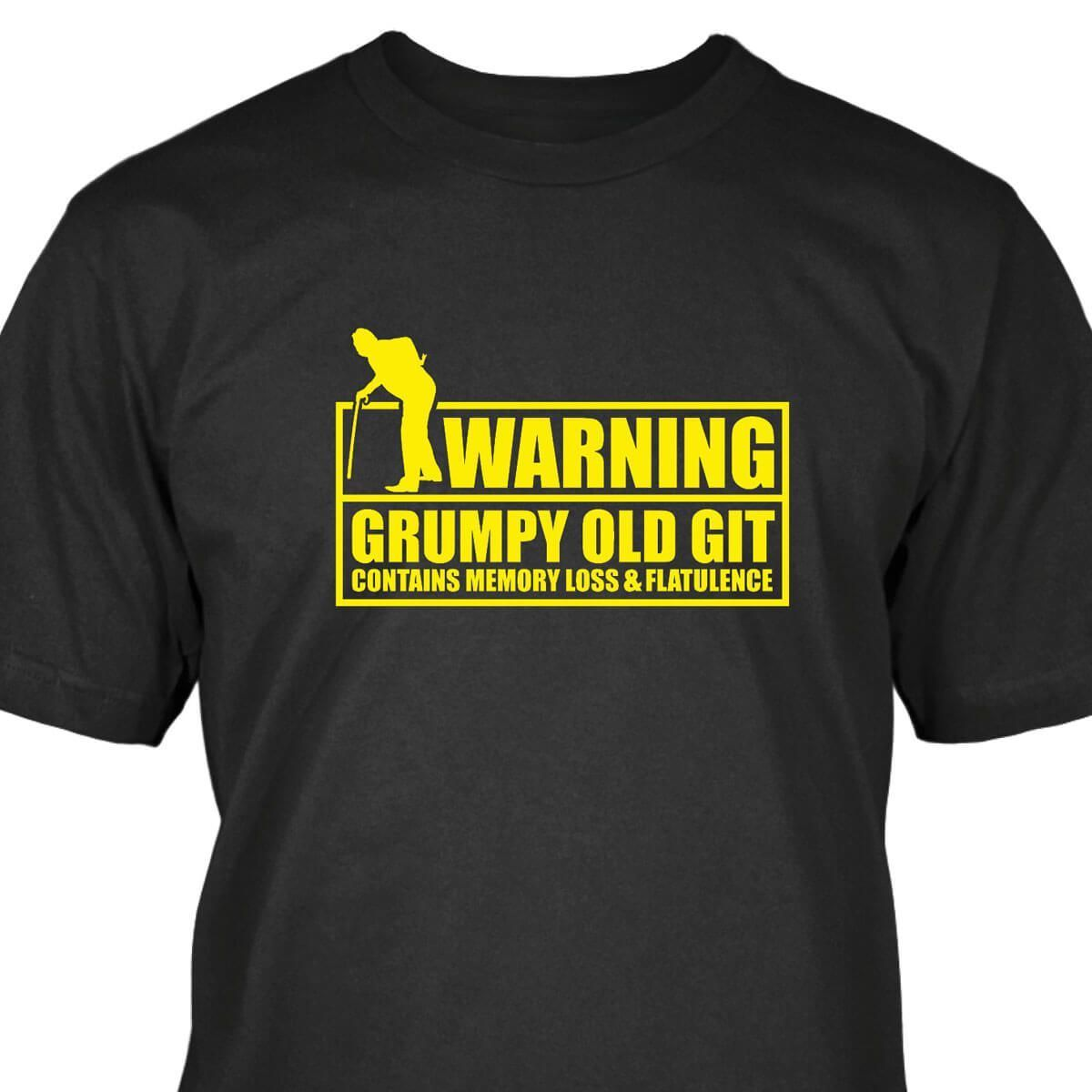 Warning, Grumpy Old Git T-Shirt ...
